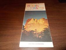 1964 South Dakota State-issued Vintage Road Map