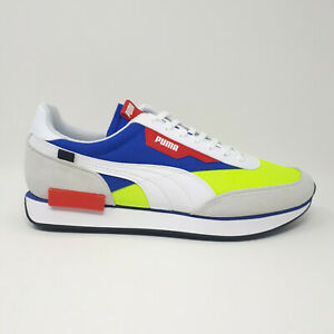 NEW Puma Future Rider Play On Shoe Sneaker 371149 06 White Red Blue Mens Size 13