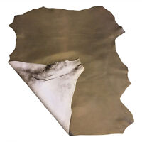 SALE Brown Leather Lambskin Hide Genuine Upholstery Fabric Craft Material 894-4