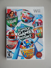 Hasbro Family Game Night 3 Game Complete! Nintendo Wii