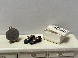 Vintage Artisan S ROUNTREE Little Girls Mary Jane Shoes Dollhouse Miniature 1:12