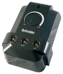 2 Way High Gain Plug-in Digital Radio TV DAB VHF Signal Booster Aerial Amplifier