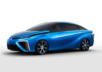 BLUE TOYOTA FCV CONCEPT NEW A2 CANVAS GICLEE ART PRINT POSTER