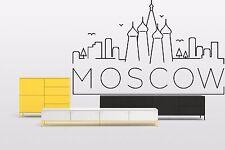 Wall Vinyl Sticker Decal Skyline Horizon Panorama City Moscow Russia World F1819