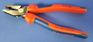 Knipex 02 02 200 Combination Pliers 180mm VDE Grip 1000V Insulated Good Cond