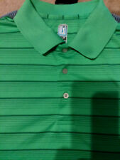 Pga Tour Short Sleeve Golf/Polo  Xl Green