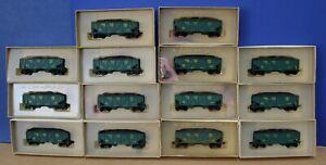 Lot of 14 Lindberg HO RTR 2 bay Hopper Cars Diff #s Sunshine Region NMRA '72