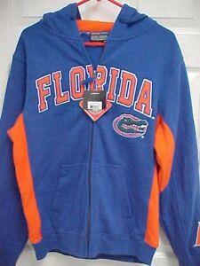FLORIDA GATORS Team Logo Men Blue Hoodie Fleece Sweatshirt M Colosseum NEW TAG