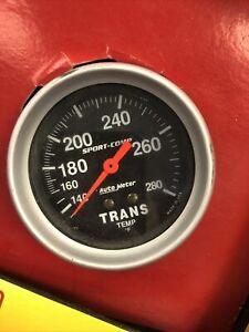 Transmission Temp Trans 3451 AutoMeter Sport Comp 2-5/8 Black Gauge Auto Meter