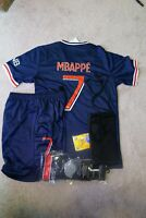 PARIS Mbappe Kids Jersey Kit Age 6-13 Yrs Shirt, short, socks, key 2020 / 21