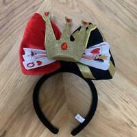 Queen of Hearts Headband Villas Ears Hat Halloween Alice Tokyo Disney