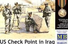 MB Masterbox U.S. Checkpoint in Iraq iraq USA punto di controllo 4 soldati 1:35 KIT