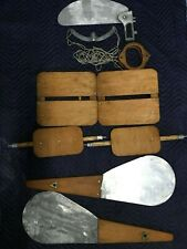1 Vintage Kayak Rudder,1 Hand Controls, 2 Seat Bottoms/2 Seat Backs, 2 Leeboards