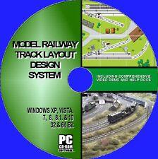 MODEL RAILWAY TRACK LAYOUT CAD DESIGNER SOFTWARE MULTI GAUGE HORNBY + NEW PC CD