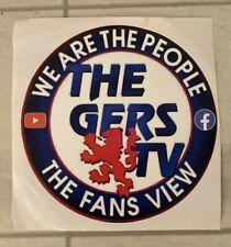 El Gers TV Pegatina de Coche grandes Glasgow Rangers