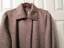 VINTAGE NEW WOMENS LLAMA WOOL BROWN LONG COAT  BY BERGHAUS ENGLAND SIZE14 recom.