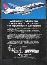 BRITISH AIRWAYS 1980 BOEING 737-200 #G-BGDB SPERRY FLIGHT SYSTEMS AUTOPILOT AD