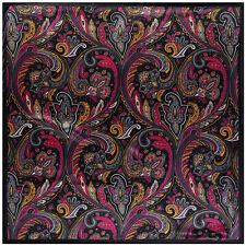 """Square Head Shawl Scarf Women's Black Paisley Print Hijab Scarves Fashion35""""*35"""""""