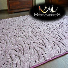 VERY THICK Runner exclusive Rugs IVANO purple 30 SIZES modern carpeting
