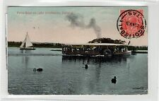 FERRY BOAT ON LAKE WENDOUREE, BALLARAT: Australia postcard (C26559)