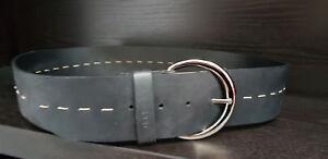 Esprit Xoctavia leather belt w80 Ceinture Accessoire White Blanc Nouveau