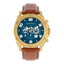 Morphic M73 Chronograph Blue Dial Tan Leather Men's Watch MPH7304