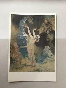 Norman Lindsay - postcard art print 'the garden god' x1