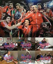 "Nottingham Forest completamente firmado 1979 Copa Europea de Fútbol de 16""x20"" photo proof"