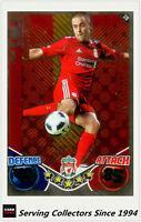 2010-11 Topps Match Attax Showboat Foil No 370 Joe Cole (Liverpool FC)