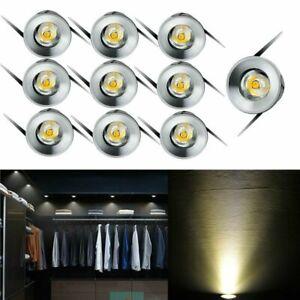 10/15x LED Recessed Cabinet Mini Spot Ceiling Lamp Downlight 1W Decor Spot Light