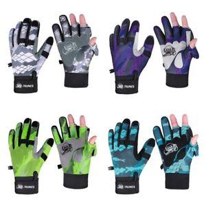 Fingerless Fishing Gloves Half-Finger Breathable Leather Neoprene Cycling Sport