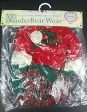 """18"""" Alice Vanderbear Wear New England Country Christmas Outfit 1995 NOS"""