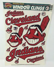 Cleveland Indians Window Clings Chief Wahoo Vtg 1996 Made in USA