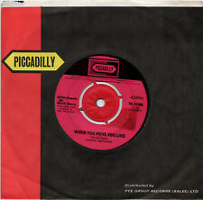 """7"""" 45 Keith Powell & Billie Davis """"When You Move You Lose"""" - PICCADILLY 7N.35288"""