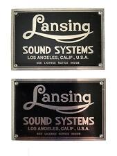 Altec Lansing Iconic Speaker Badges (pair) BLACK (Listing #1)