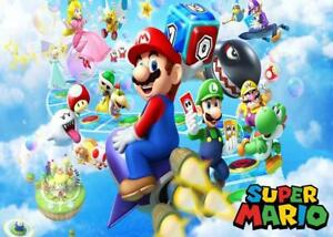 Super Mario XL Banner Background Decoration Super Mario Photograph Backdrop