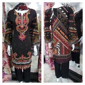 Winter Baroque designer inspired Asian Ready Made Suit  Salwar Kameez pakistani