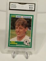1989 Score Troy Aikman Rookie #270 Dallas Cowboys Beckett Graded 8.5 NM-MT+