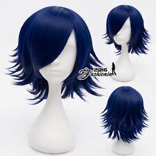 35CM Royal Blue Short Layered Hair VOCALOID Kagamine RIN Anime Party Cosplay Wig