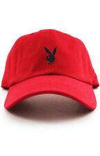 Playboy Bunny Custom Red Unstructured Baseball Dad Hat Cap New - Black Bunny