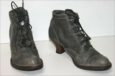 Neosens Boots Booties Lace Leather Dark Gray T 39 Be