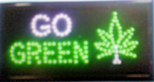 2 pcs Go Green Neon Led Light,smoke shop,Store sign,Window sign,Business Sign