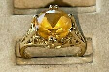 Lovely 14K Yellow GOLD & Gold TOPAZ  RING, Size 6.5