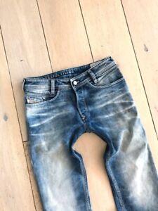 DIESEL TEPPHAR 0887V STRETCH Men's Denim Jeans SLIM CARROT Blue ITALY RRP £200
