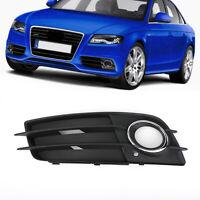 Left Bumper Fog Light Grille Cover Chrome Ring For Audi A4 S-LINE S4 2008-2012