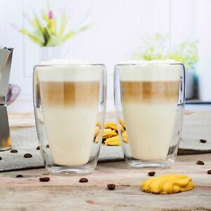 Doppelwandige Thermo Gläser 2er - 4er Set Latte Macchiato Tee Kaffee Cocktail
