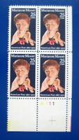 Sc # 2449 ~ Plate # Block ~ 25 cent Marianne Moore Issue (cd24)