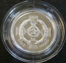 1996 Sterling Silver Proof Une Livre £ 1 Royal Comme neuf in box de question + COA