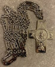 Christian Orthodox Pectoral Priest Cross 9 cm  with Chain 110 cm