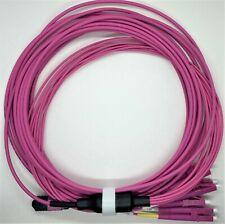MPO to 8-LC OM4 50/125 Multimode Erika Violet  Breakout fan Cable 4 Meter Type B